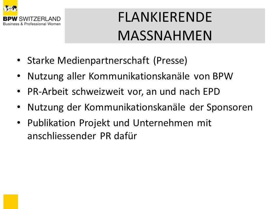 Sponsoring – Basisinformationen Zur Finanzierung der BPW-Aktivitäten des EPD benötigen wir für 2009 rund 70.000 CFH Mittels Sponsoring wollen wir die durch den Zentralvorstand bereitgestellten Unterlagen finanzieren.