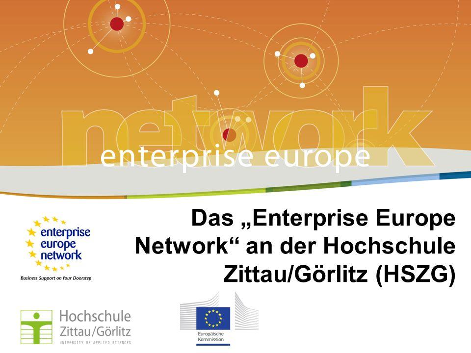 Title of the presentation | Date | # Enterprise Europe Network an der HSZG Projektleitung Prof.
