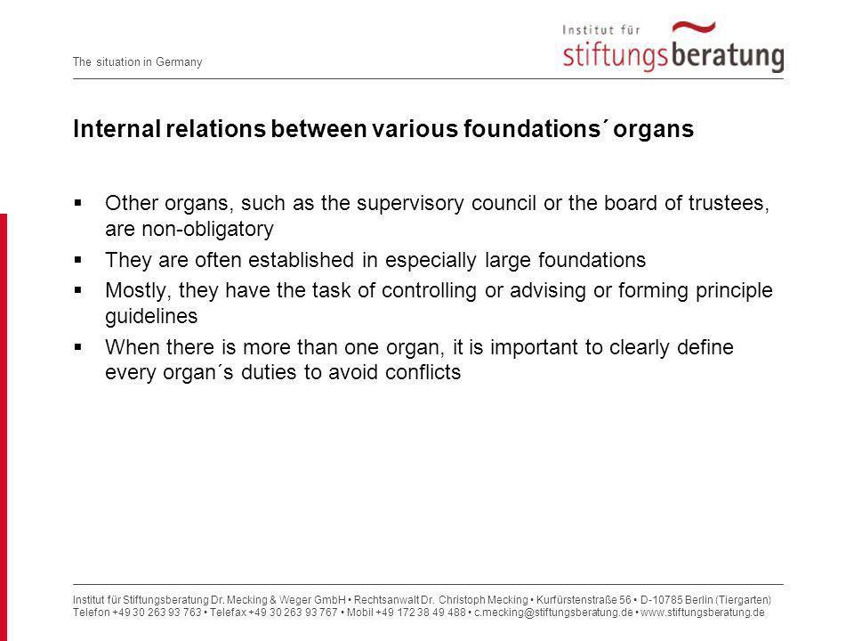 Institut für Stiftungsberatung Dr.Mecking & Weger GmbH Rechtsanwalt Dr.