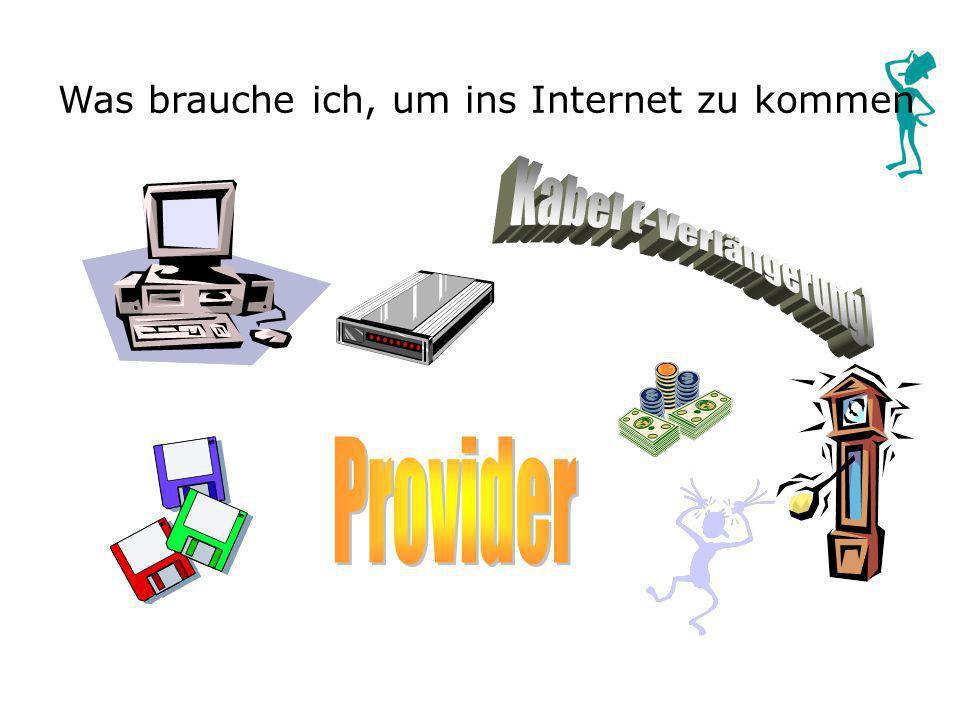 Was brauche ich, um ins Internet zu kommen