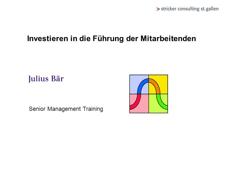 Investieren in die Führung der Mitarbeitenden Senior Management Training