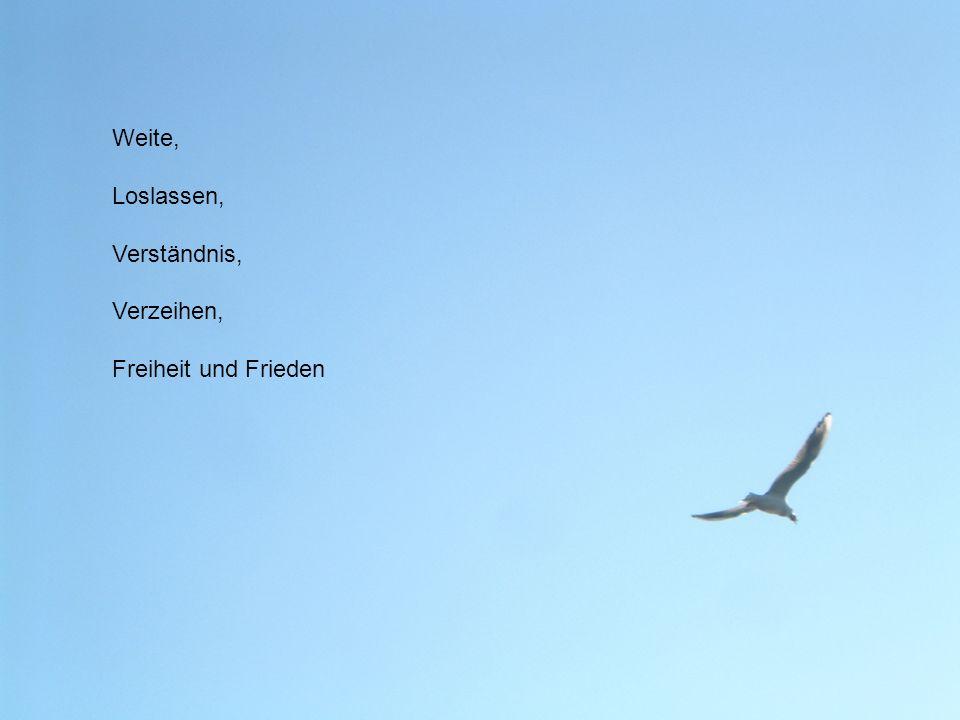 Weite, Loslassen, Verständnis, Verzeihen, Freiheit und Frieden
