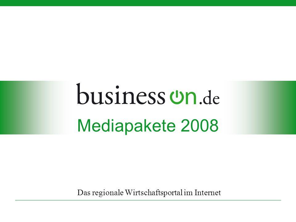 Mediapakete 2008 Das regionale Wirtschaftsportal im Internet