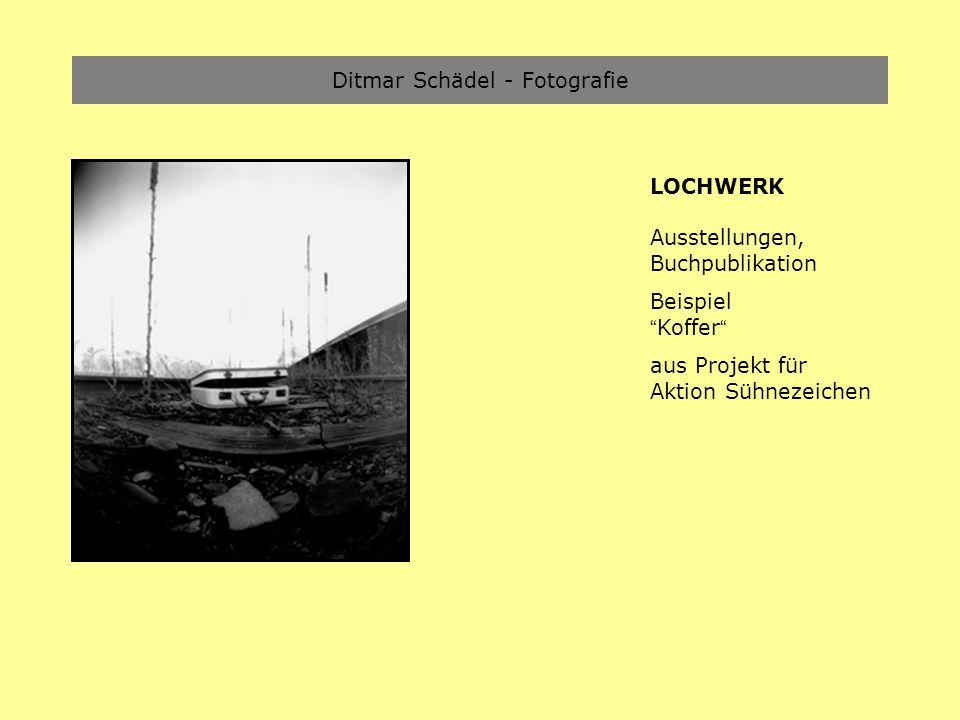 Ditmar Schädel - Fotografie LOCHWERK Ausstellungen, Buchpublikation Beispiel Koffer aus Projekt für Aktion Sühnezeichen
