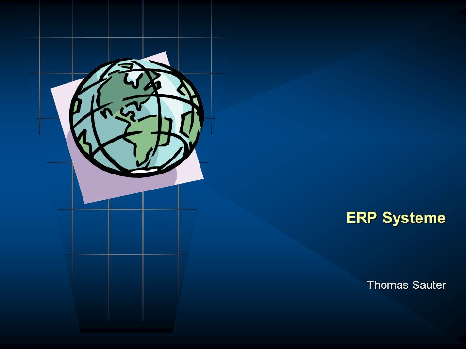 ERP Systeme Thomas Sauter