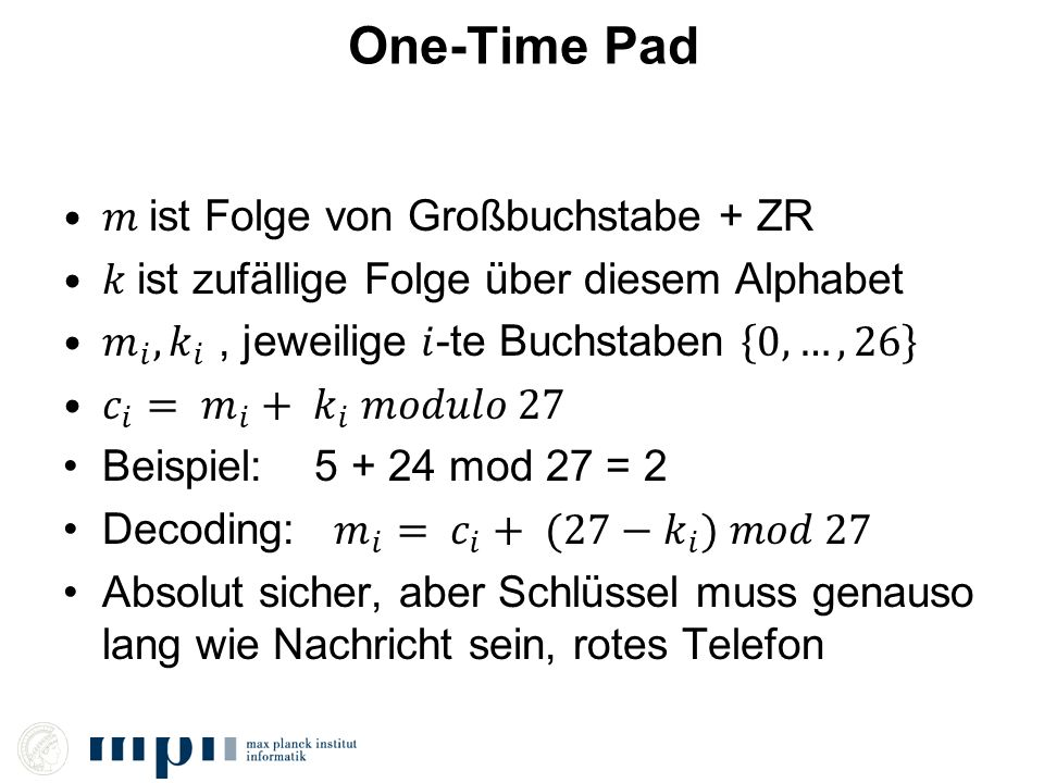 One-Time Pad