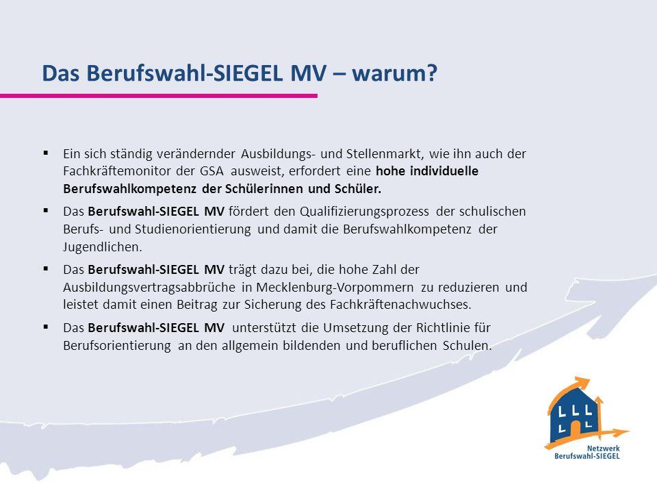Das Berufswahl-SIEGEL MV – warum.