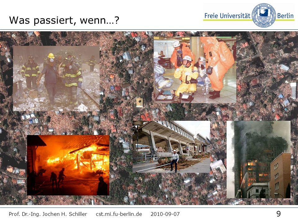 9 Prof. Dr.-Ing. Jochen H. Schiller cst.mi.fu-berlin.de 2010-09-07 Was passiert, wenn…?