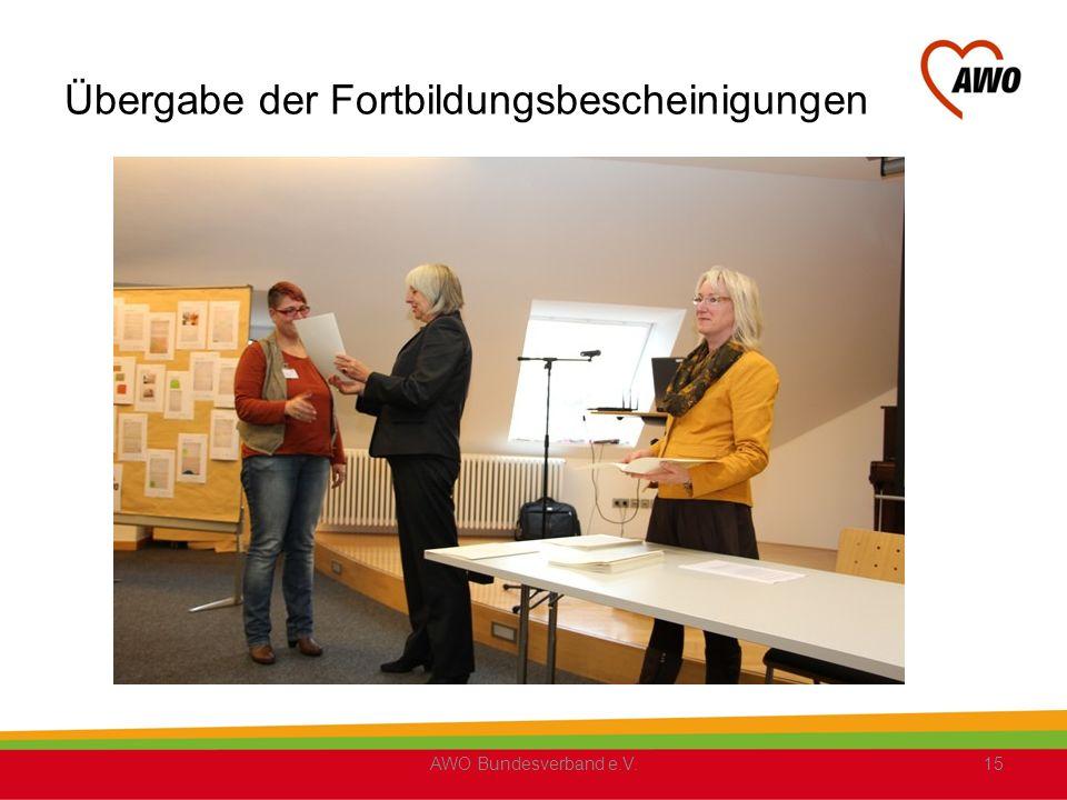 Übergabe der Fortbildungsbescheinigungen AWO Bundesverband e.V.15