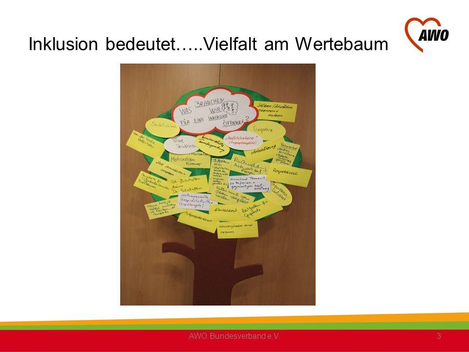 Inklusion bedeutet: …..Kommunikation….. AWO Bundesverband e.V.4