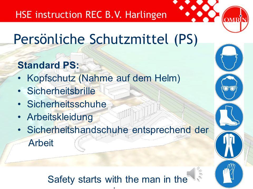 HSE instruction REC B.V. Harlingen –Inspekteur des Gerüstes –Rigger oder Lastbegleiter –Gabelstaplerfahrer –Kranfahrer –Bediener der Hebebühne –Brandw
