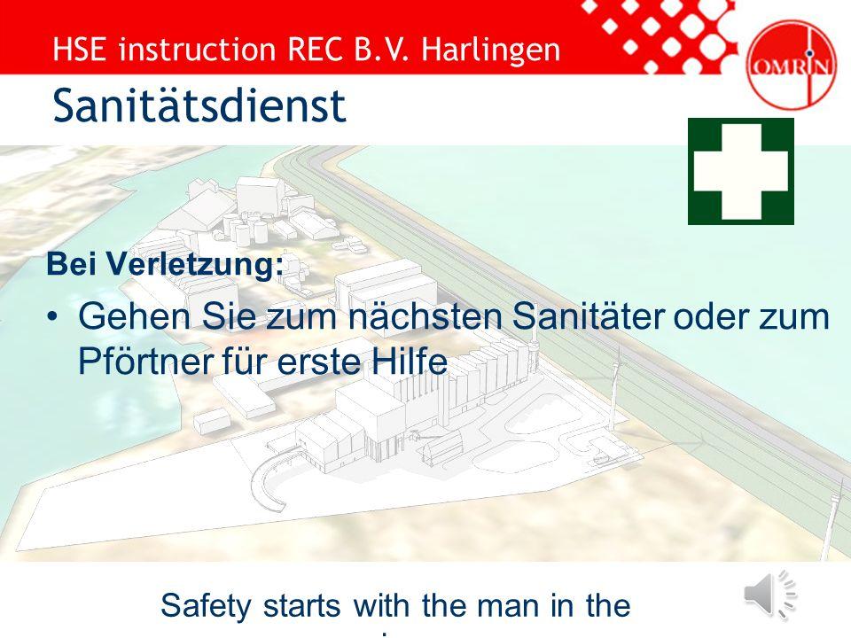 HSE instruction REC B.V. Harlingen Safety starts with the man in the mirror Standard PS: Kopfschutz (Nahme auf dem Helm) Sicherheitsbrille Sicherheits