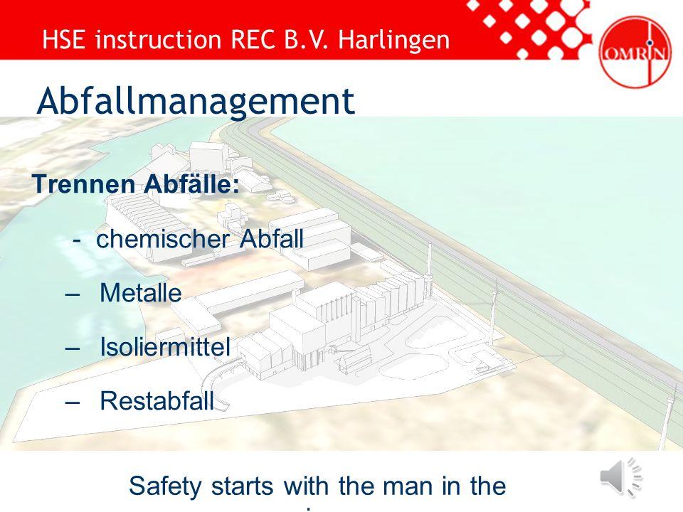 HSE instruction REC B.V. Harlingen Safety starts with the man in the mirror Kontrolliere das Gerüst immer persönlich Benutze Gerüste nur zum eigentlic