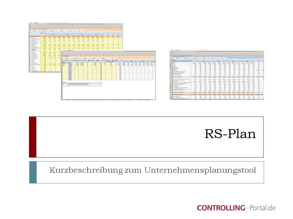 RS-Plan Kurzbeschreibung zum Unternehmensplanungstool