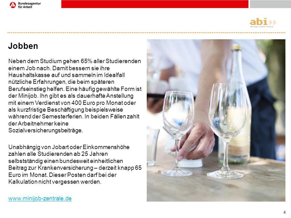 3 BAföG Derzeit profitieren rund 29% der Studierenden vom Bundesausbildungsförderungsgesetz (BAföG).