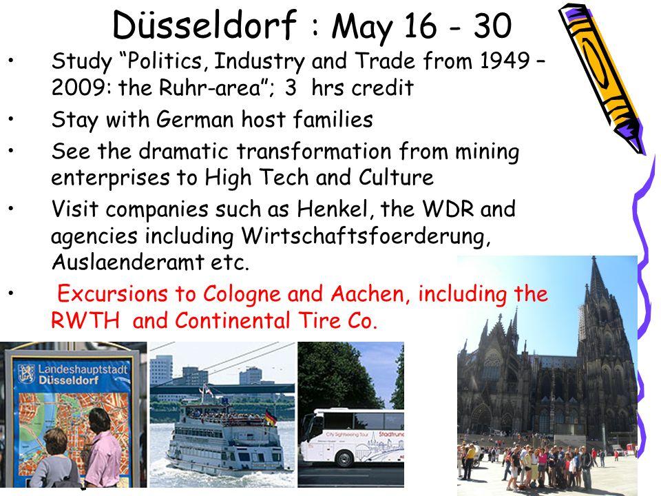 Schedule in Weimar Täglich Klassen von 9:00 – 10:30 Landeskunde 10:30 - 11:00 Pause 11:00 – 12:30 Wirtschaftsdeutsch Nachmittags: Exkursionen; Projektarbeit mit Tutoren