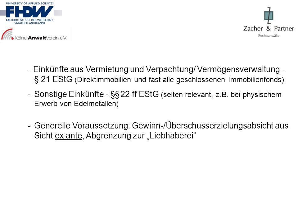 2.1.1Einkünfte aus Gewerbebetrieb - §§ 15 ff EStG insbesondere bei sog.