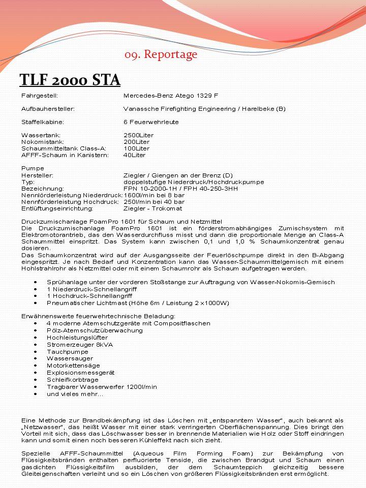 TLF 2000 STA 09. Reportage