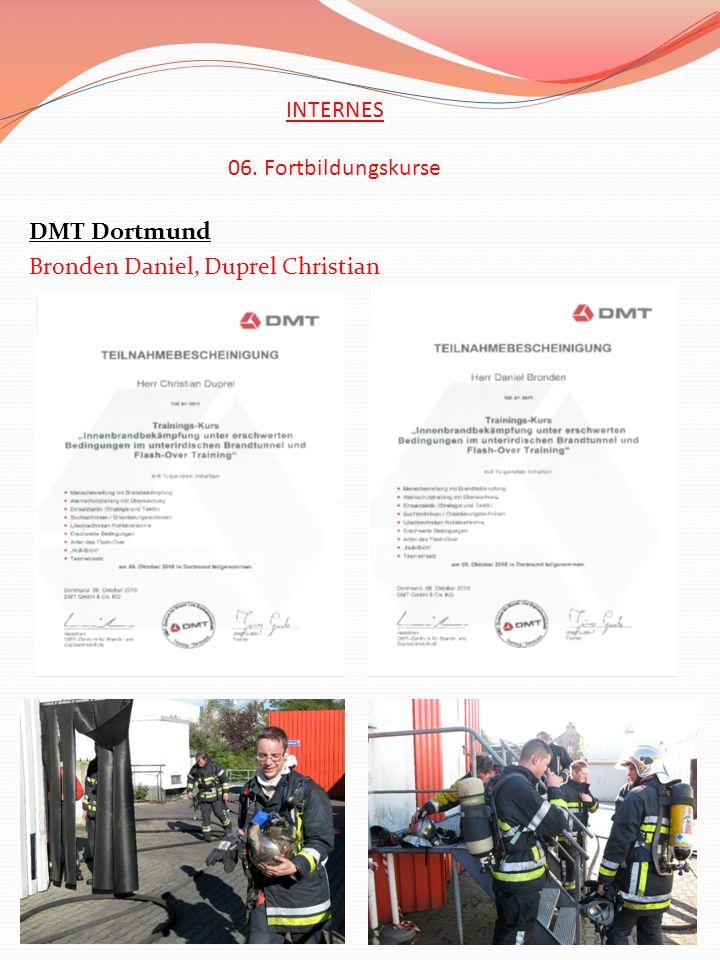 DMT Dortmund Bronden Daniel, Duprel Christian INTERNES 06. Fortbildungskurse