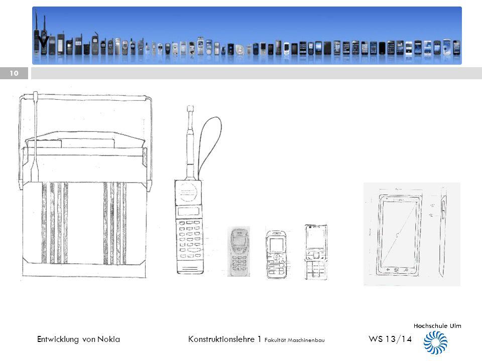 Konstruktionslehre 1 Fakultät Maschinenbau Nokia Lumia 1520 2013 WS 13/14 9 Entwicklung von Nokia + großer Touchscreen + mini Computer