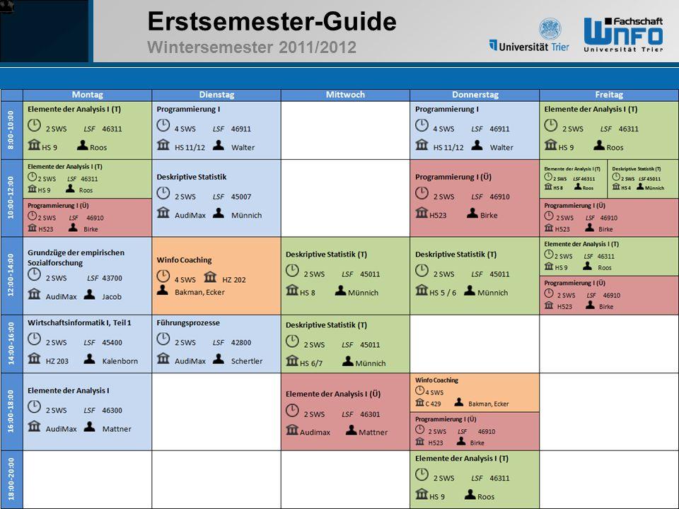 Erstsemester-Guide Wintersemester 2011/2012