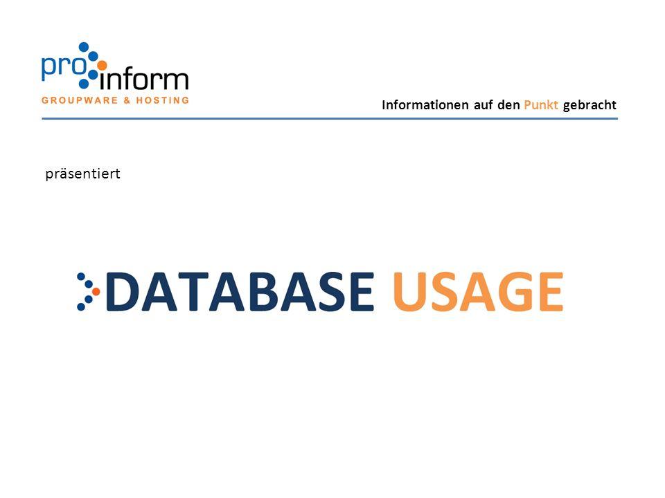 Sie möchten DATABASE USAGE in Ihrer Lotus Notes Umgebung einsetzen.