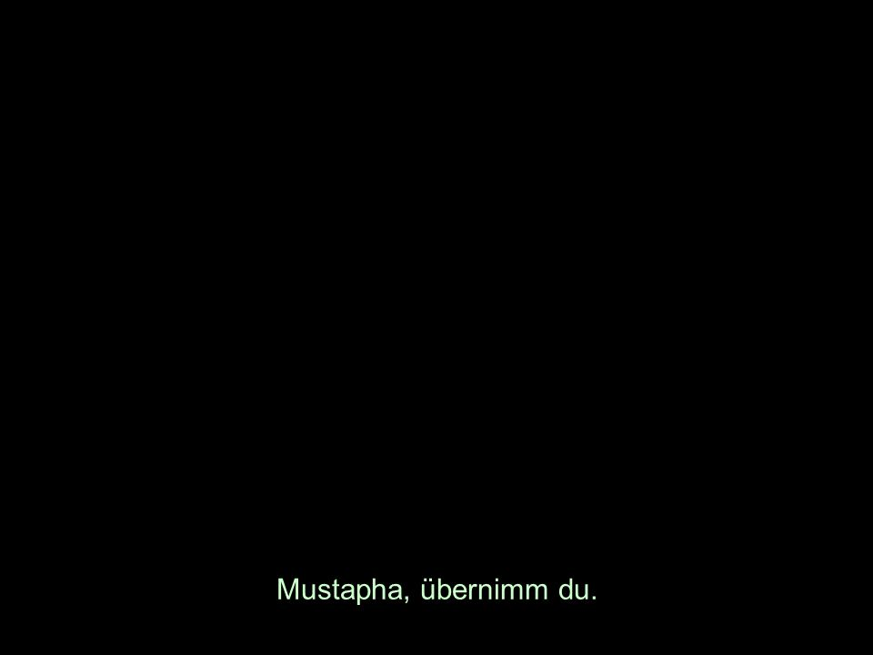 Mustapha, übernimm du.