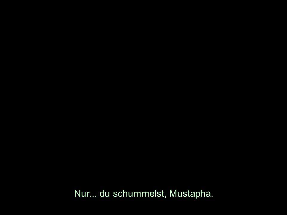 Nur... du schummelst, Mustapha.