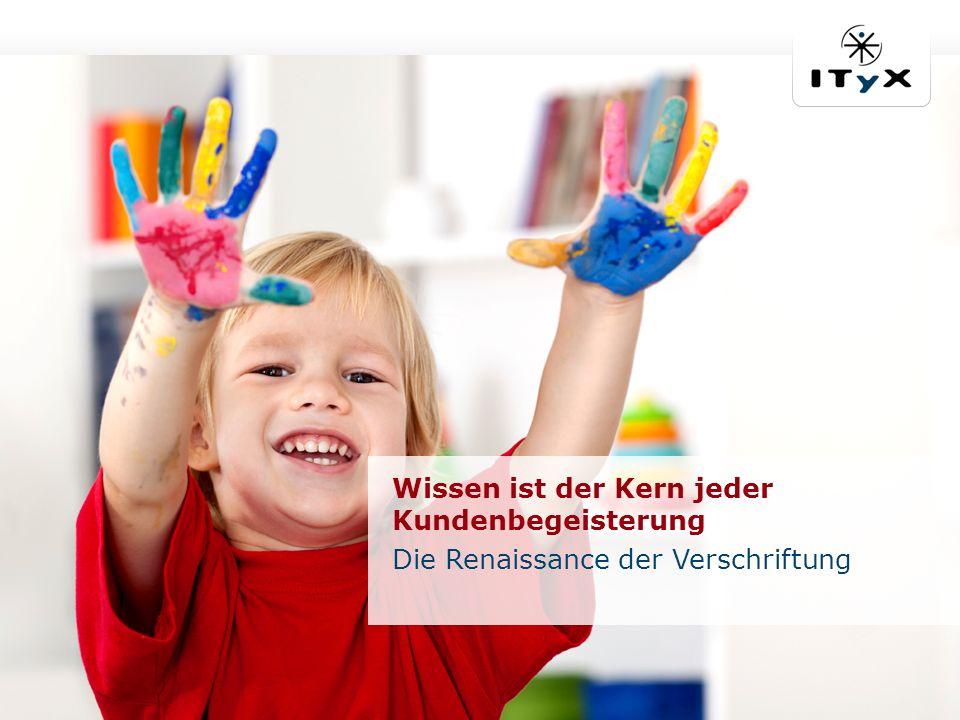 © ITyX Solutions AG | 2012 Seite 2 | ECM Crossroad 2012 Wissen ist der Kern jeder Kundenbegeisterung Die Renaissance der Verschriftung