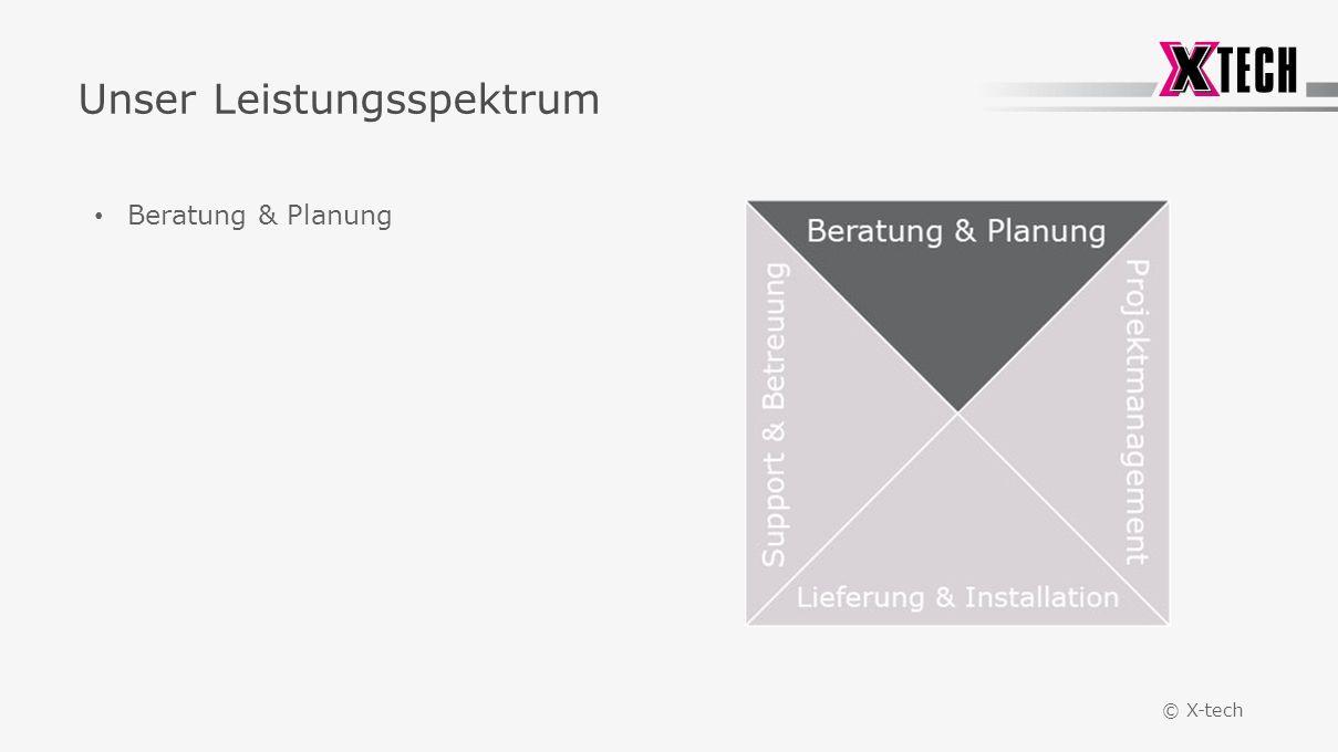 © X-tech Unser Leistungsspektrum Beratung & Planung