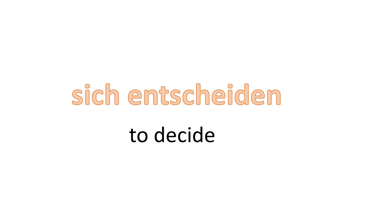to decide