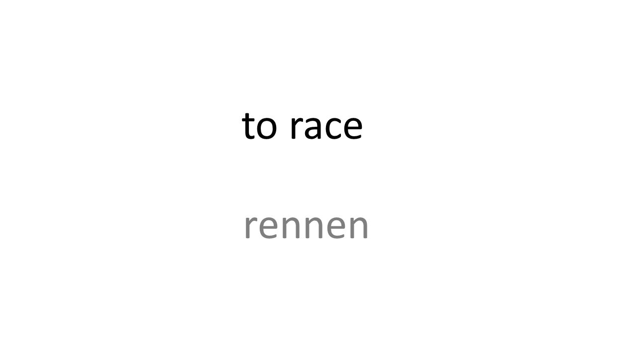 to race rennen