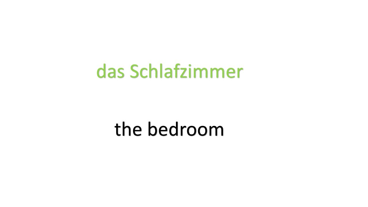 das Schlafzimmer the bedroom