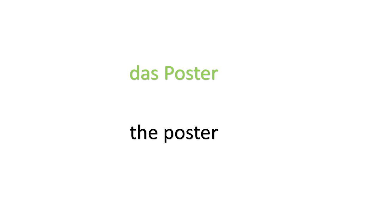 das Poster the poster