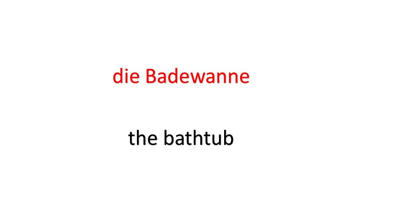 die Badewanne the bathtub