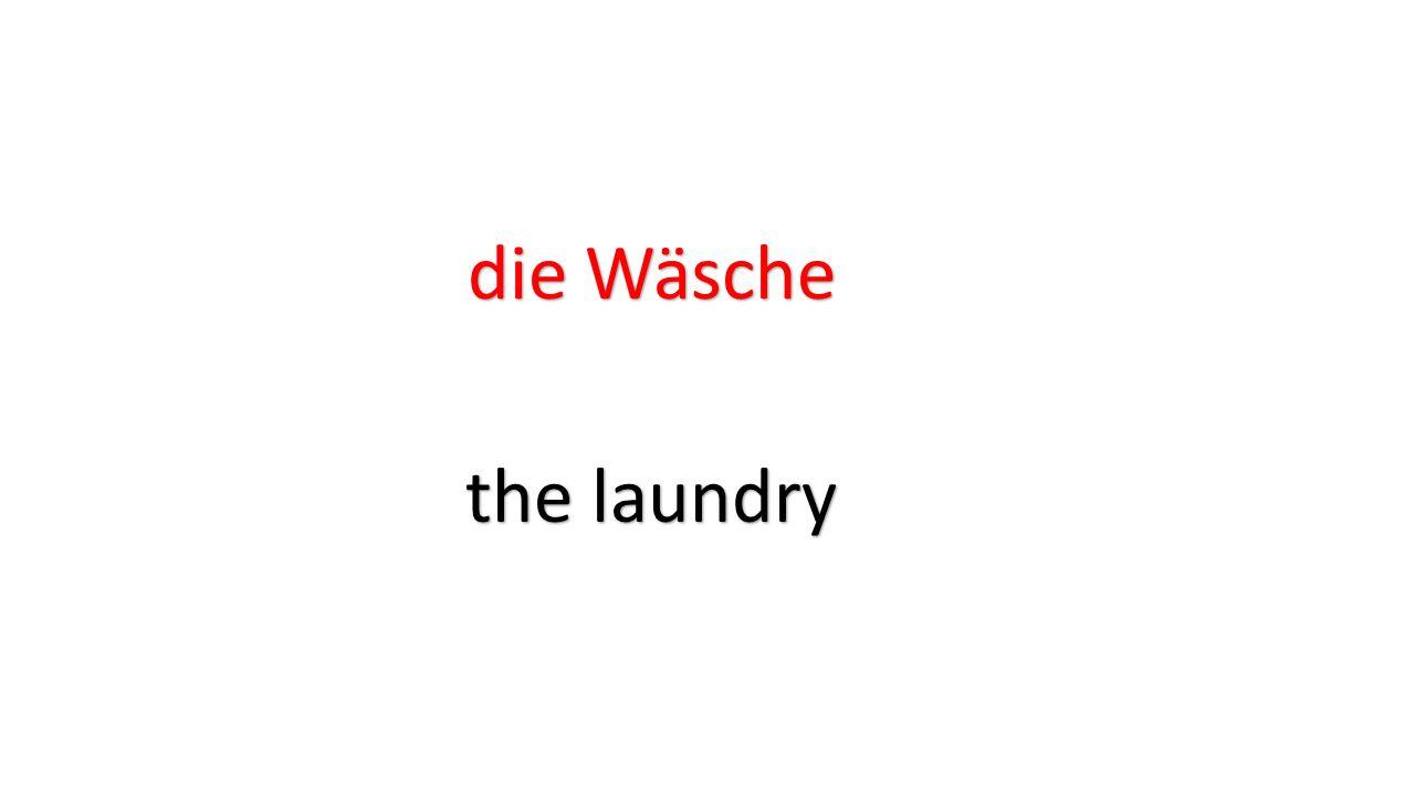 die Wäsche the laundry