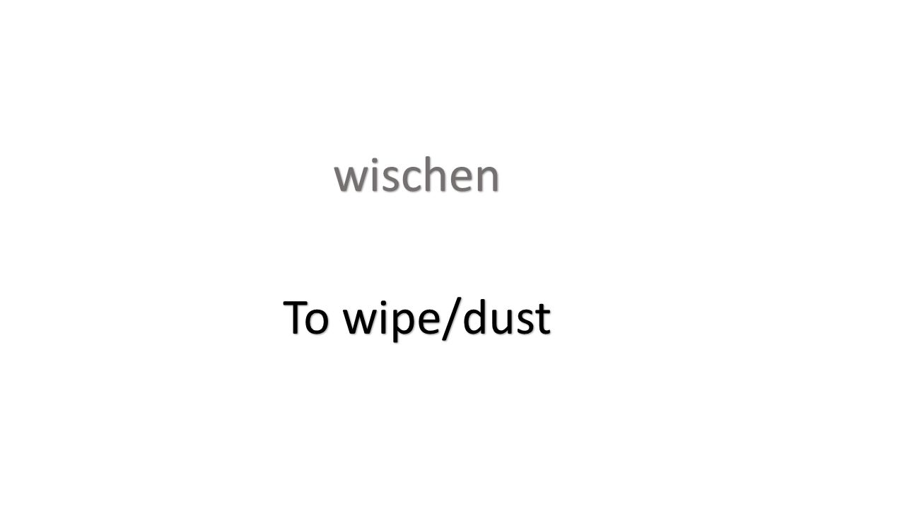 wischen To wipe/dust