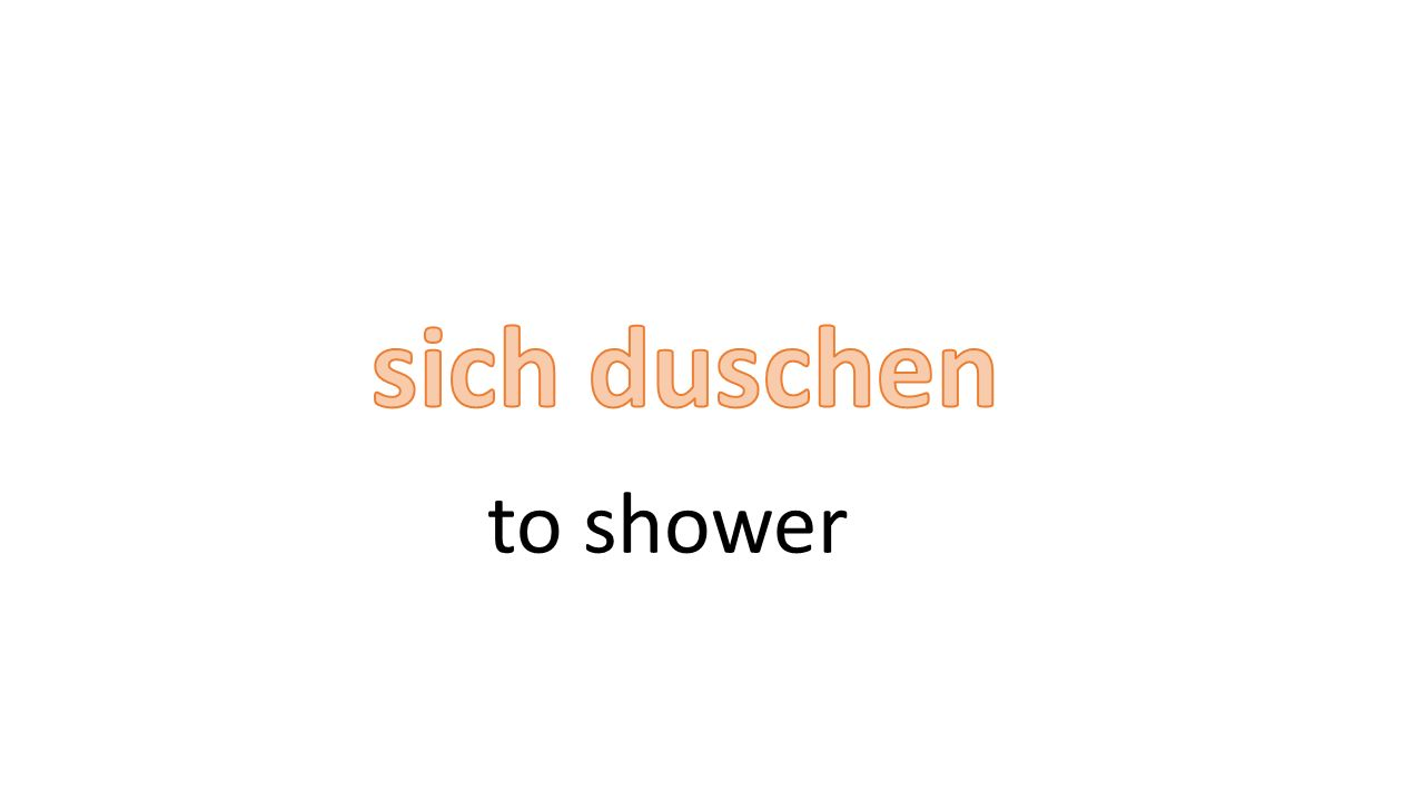 to shower