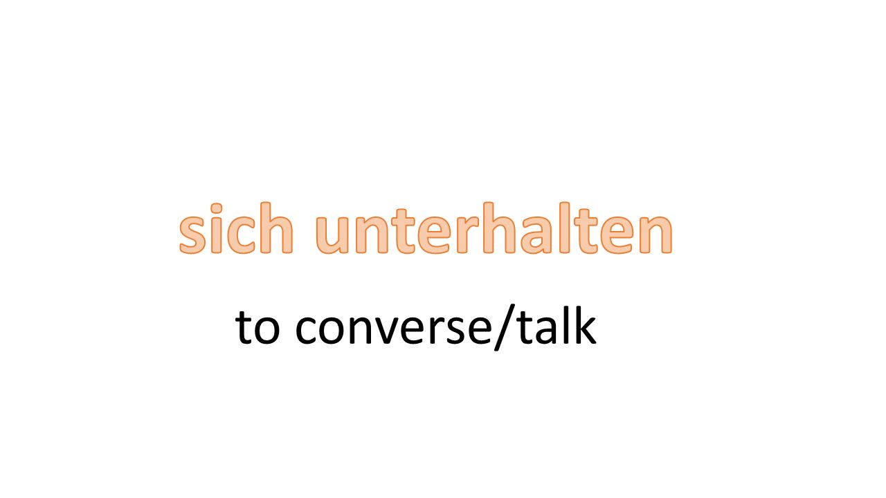to converse/talk