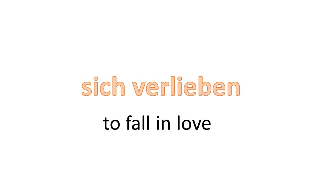 to fall in love