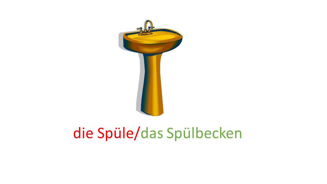 die Spüle/das Spülbecken
