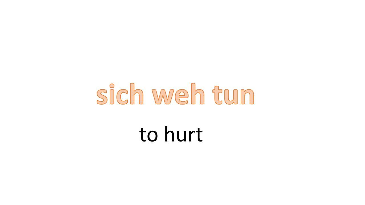 to hurt