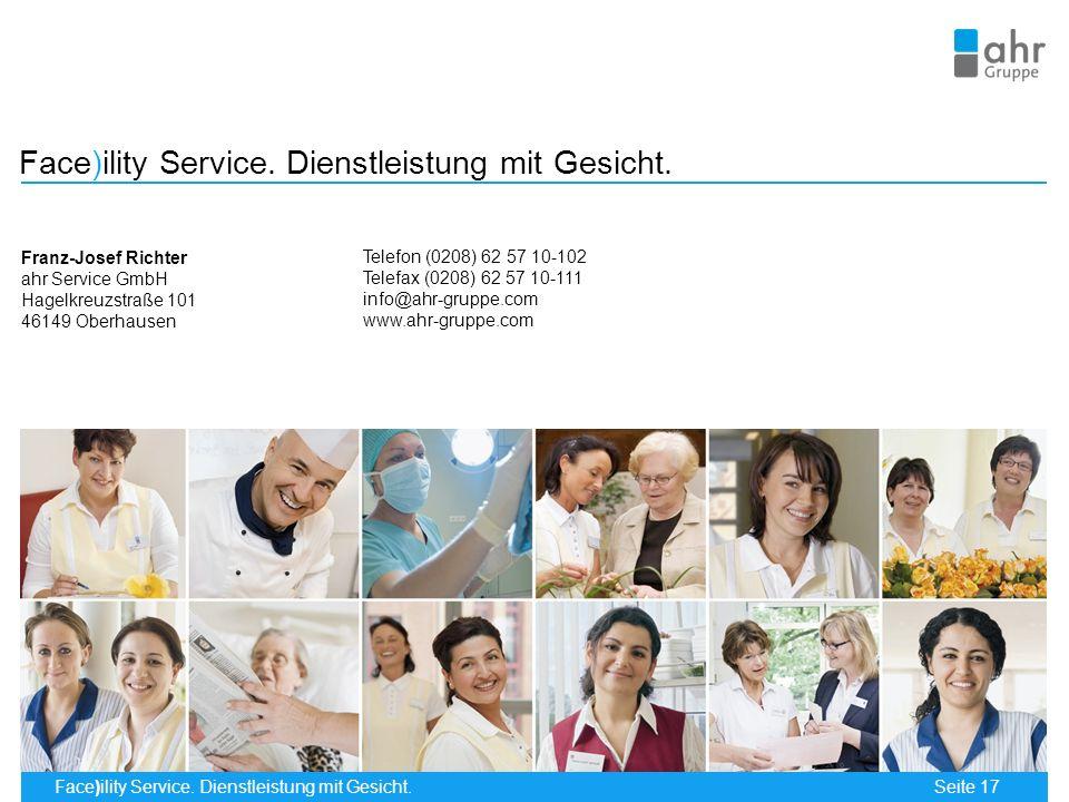 Face)ility Service.Dienstleistung mit Gesicht. Seite 17 Face)ility Service.
