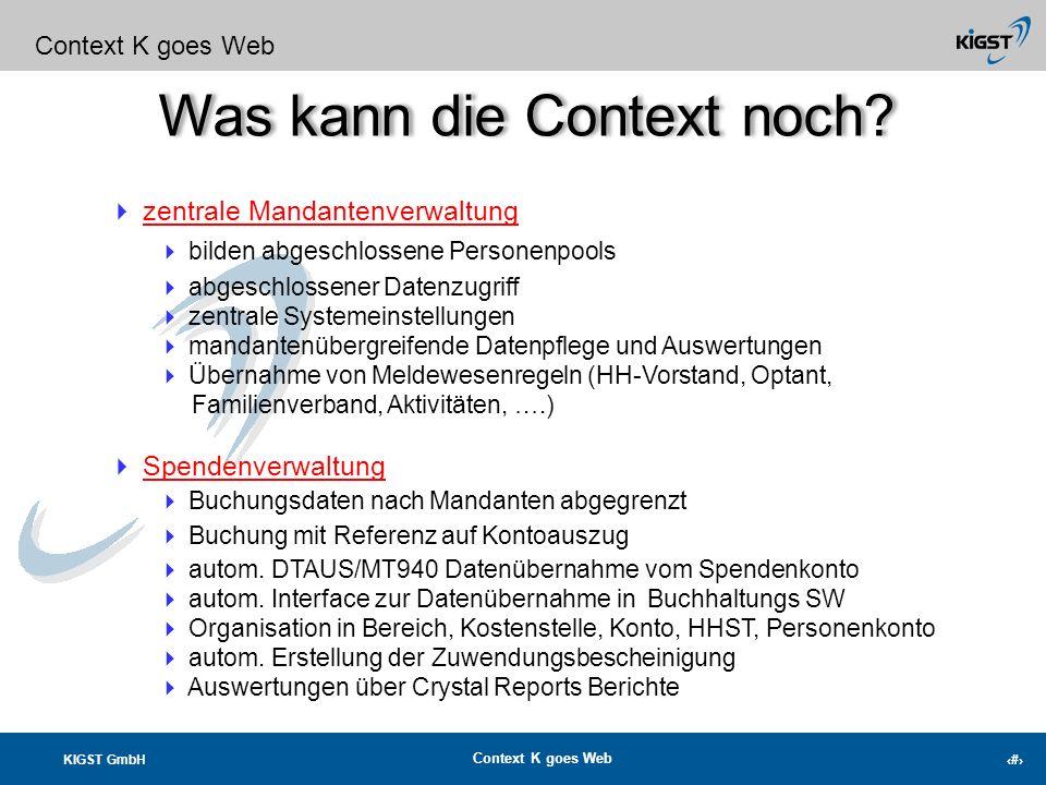 KIGST GmbH Context K goes Web 2 Einfacher Transfer in eine Exceltabelle Fassen Sie Ihre Aktionen zu Kampagnen zusammen Fassen Sie Ihre Kampagnen zu pr