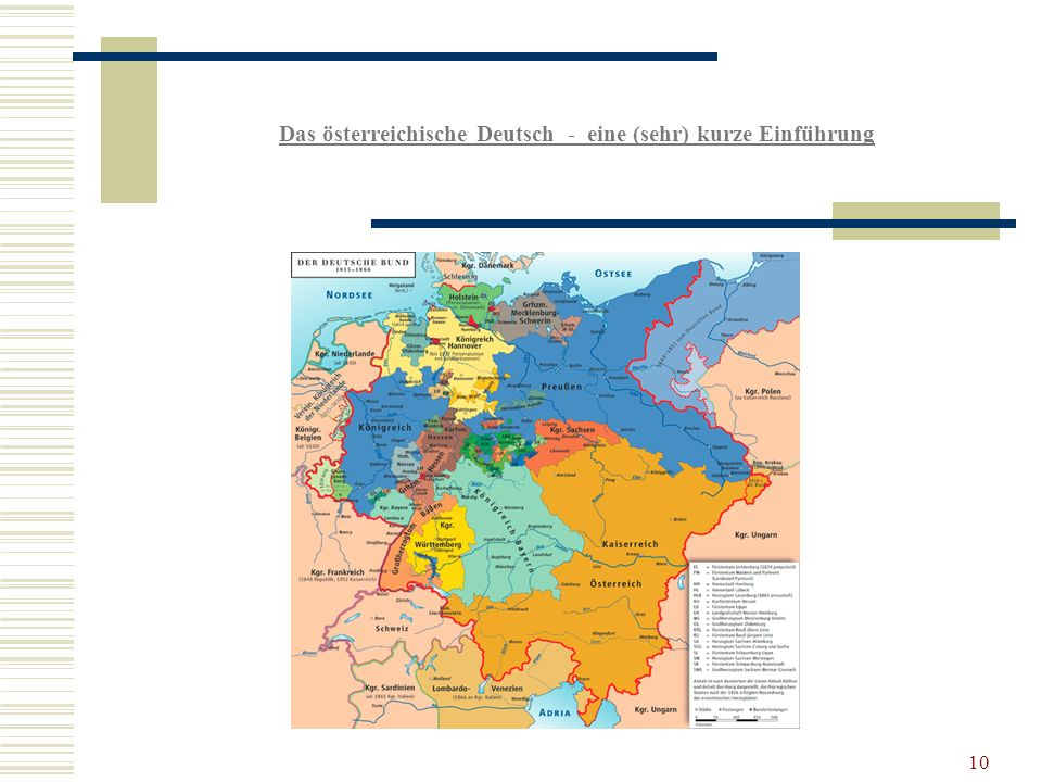Das österreichische Deutsch - eine (sehr) kurze Einführung 10