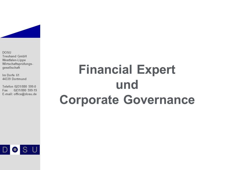 2 Financial Expert Zusammensetzung des AR - Unabhängiger Finanzexperte - § 100 Abs.