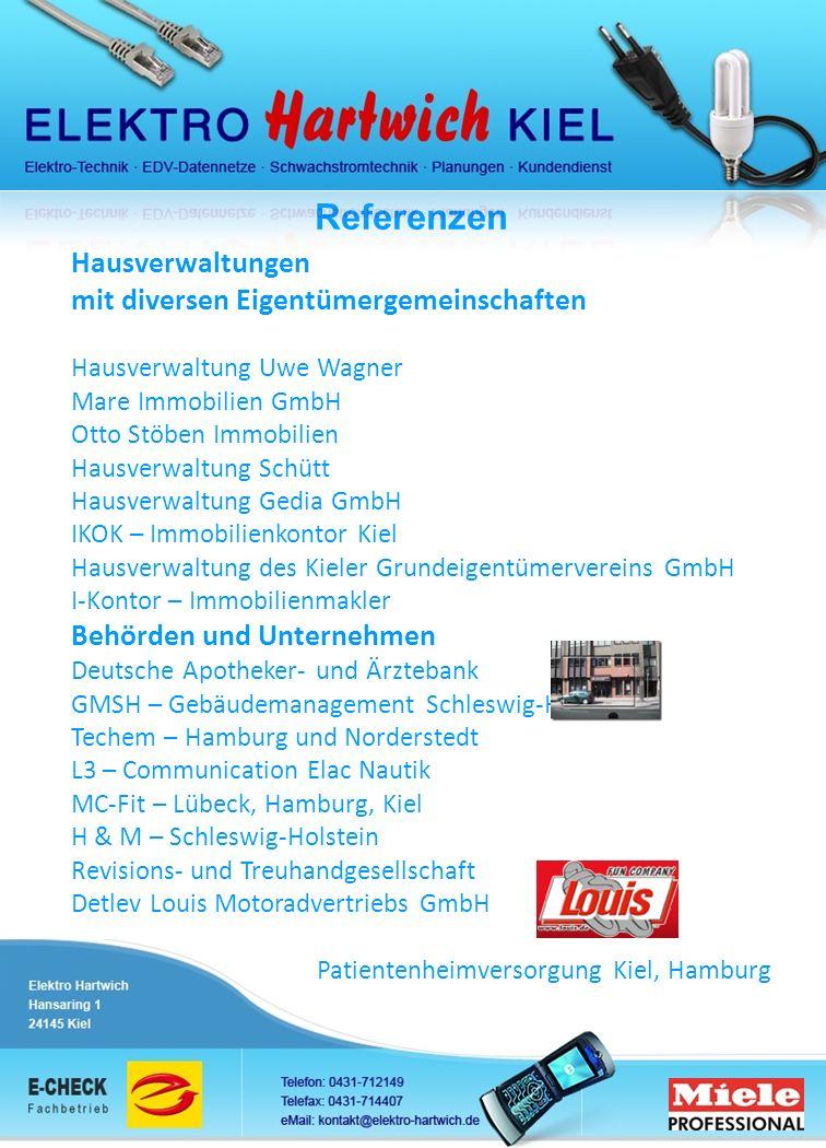 Referenzen Hausverwaltungen mit diversen Eigentümergemeinschaften Hausverwaltung Uwe Wagner Mare Immobilien GmbH Otto Stöben Immobilien Hausverwaltung