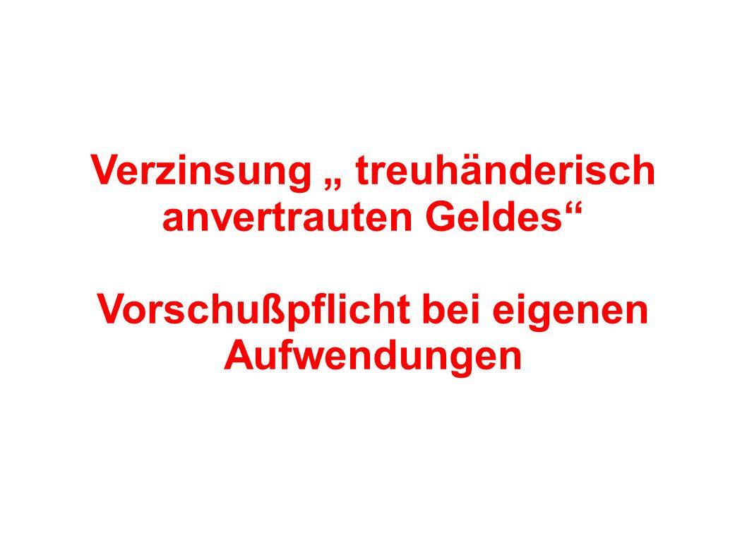 RECHTE Anspruch auf Aufwendungsersatz (§ 670 BGB) Anspruch auf Haftungsfreistellung (§ 31 a II BGB )