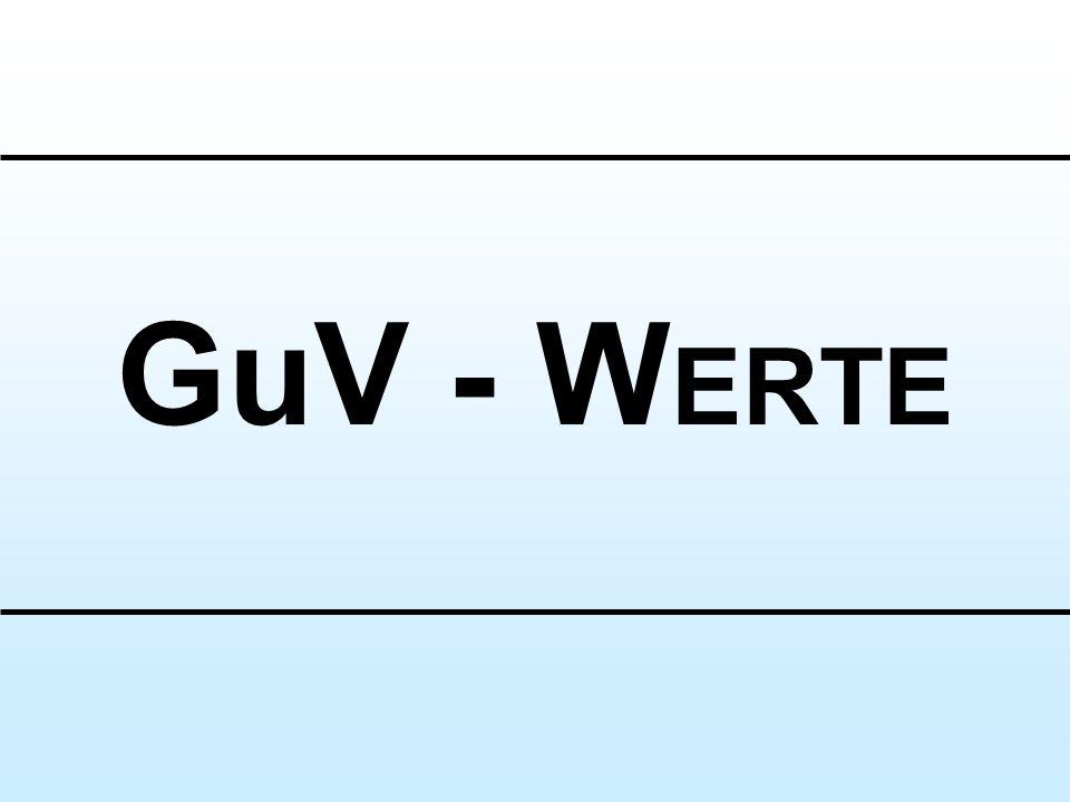 GuV - W ERTE