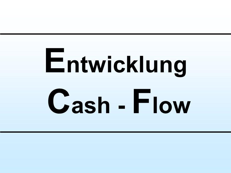 E ntwicklung C ash - F low